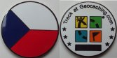 Czech republic microgeocoin - black nickel