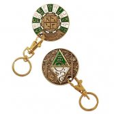 ROT13 Decoder geocoin key chain
