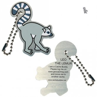 Leo the Lemur - travel tag