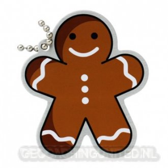 Travel Tag Gingerbread man